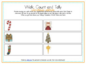 Walk, Count and Tally-Christmas Edition