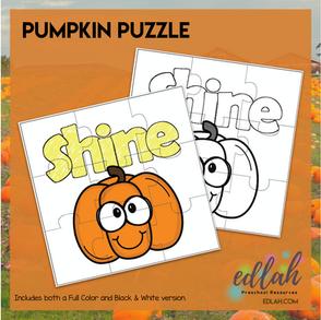 Shine Bright Pumpkin Puzzle
