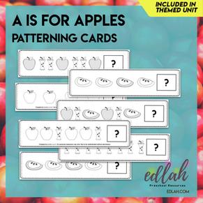 Apple Patterning Cards - Black & White Version
