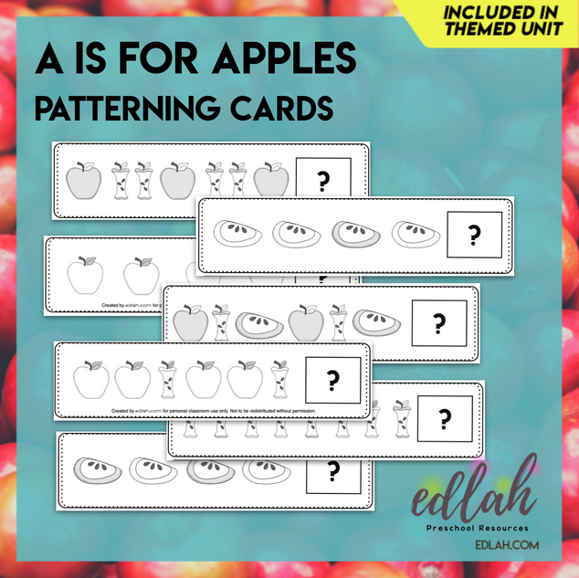 Apple Patterning Cards - Black & White Version