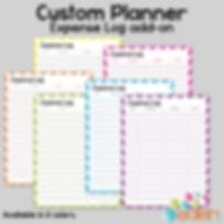 Build Your Own Custom Planner Expense Log