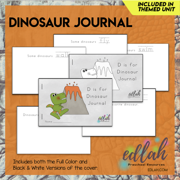 Dinosaur Printable Journal