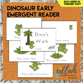 Dinosaur Early Emergent Reader - Full Color Version