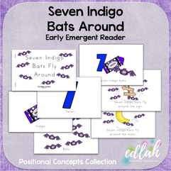 Seven Indigo Bats Early Emergent Reader (Around) - Full Color Version