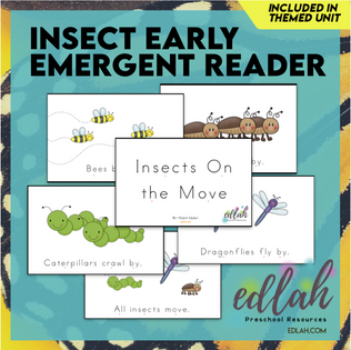Insects Early Emergent Reader - Full Color Version