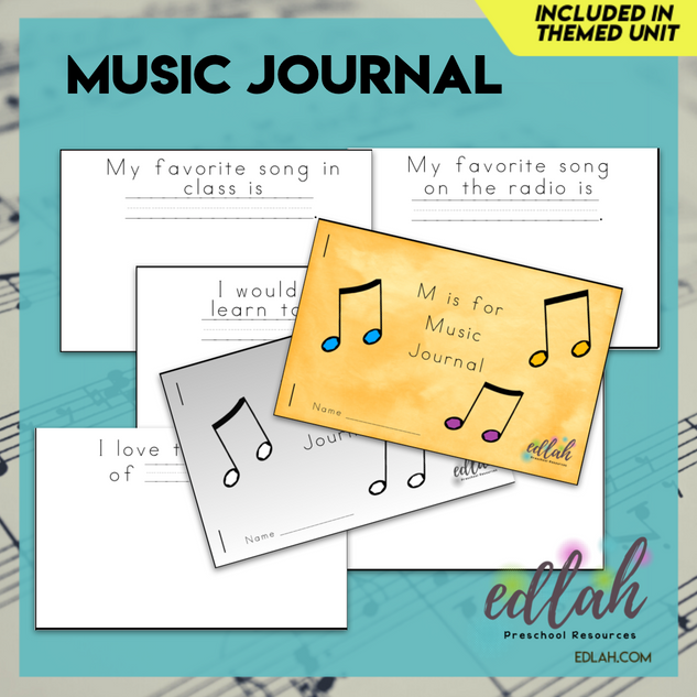 Music Printable Journal