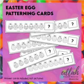 Easter Egg Patterning Cards - Black & White Version