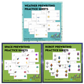 Prewriting Practice Sheet - BUNDLE