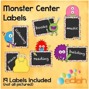 Monster Center Labels