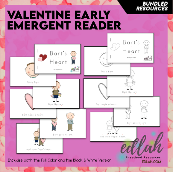 Valentine's Day Early Emergent Reader - BUNDLE