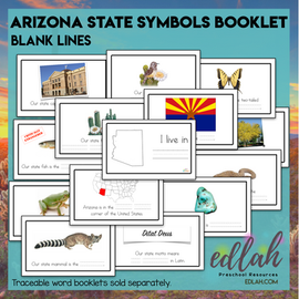 Arizona State Symbols Booklet- Blank Lines