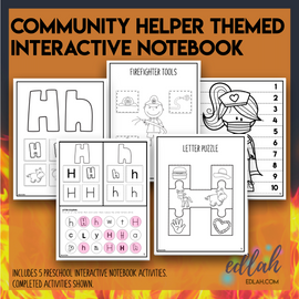 H is for Helping Themed Interactive Notebook
