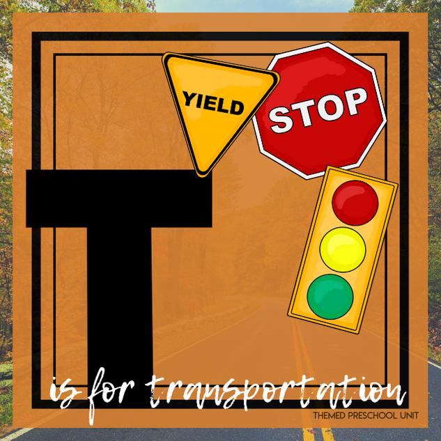 T is for Transportation Themed Unit-Preschool Lesson Plans