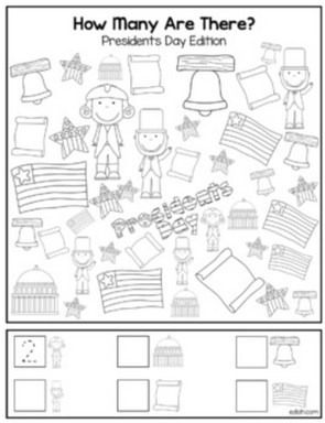 "Presidents' Day ""How Many Are There"" Activity Sheet"
