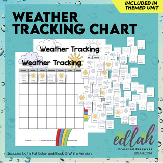 Weather Tracking Chart & Cards (1 month)