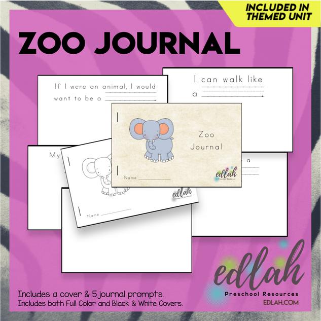 Zoo Printable Journal