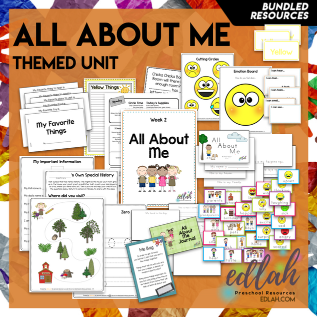 All About Me Themed Unit-Preschool Lesson Plans & Activities