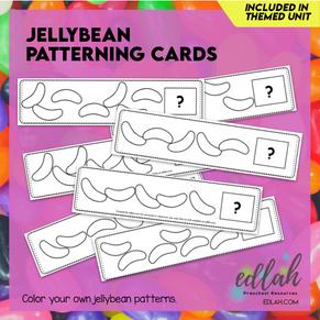 Jellybean Patterning Cards - Black & White Version