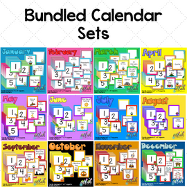 12 Month BUNDLED Set of Themed Calendar Pieces