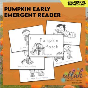 Pumpkin Early Emergent Reader - Black & White Version