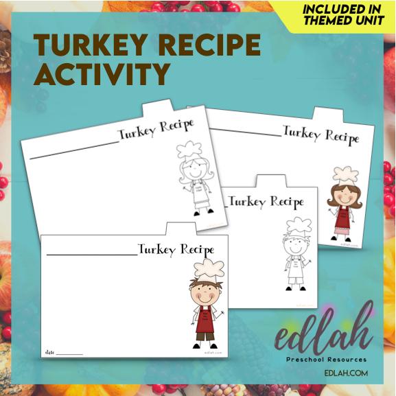 Thanksgiving Turkey Recipe Keepsake