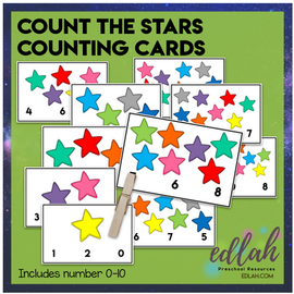Count the Stars Counting Activity - Numbers 0-10