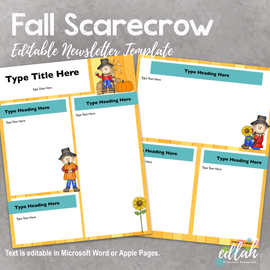 Fall Scarecrow Newsletter for WORD or PAGES_Generation 2