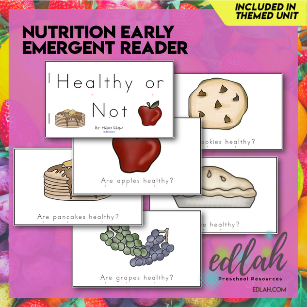 Nutrition/Food Early Emergent Reader - Full Color Version