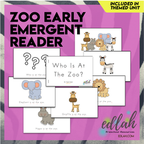 Zoo Early Emergent Reader - Full Color Version
