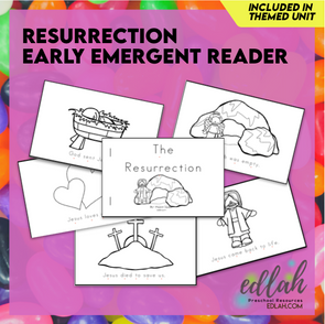 Easter/Resurrection Early Emergent Reader - Black & White Version