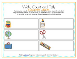 Walk, Count and Tally-Classroom Edition