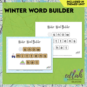 Letter Tile Word Building - Winter