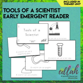 Science Tools Early Emergent Reader - Black & White Version