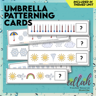 Umbrella/Weather Patterning Cards - Full Color Version