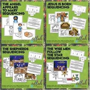 Christmas Story Sequencing Activity Sheets and Story Cards