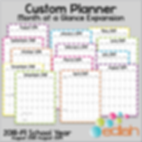 Build Your Own Custom Planner Month at a Glance