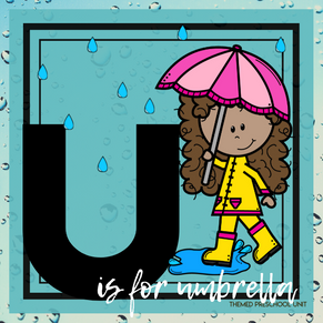 U is for Umbrellas/Weather Themed Unit-Preschool Lesson Plans -Distance Learning