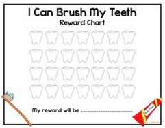 I Brushed My Teeth Rewards Chart