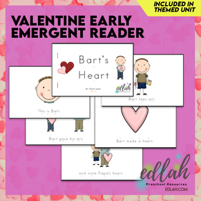 Valentine's Day Early Emergent Reader - Full Color Version