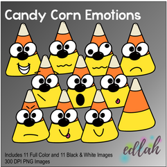 Candy Corn Emotions Face Clip Art