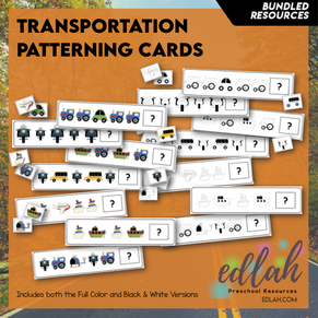Transportation Patterning Cards - Bundle