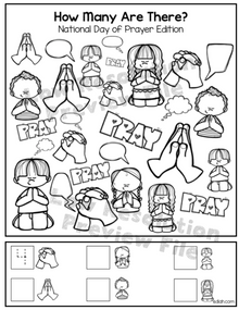 """National Day of Prayer """"How Many Are There"""" Activity Sheet"""