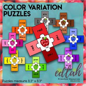 Color Variation Puzzles - Apples
