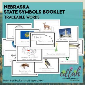 Nebraska State Symbols Booklet - Traceable Words