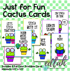 Just for Fun Cactus Cards