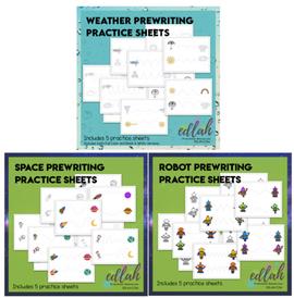 Prewriting Practice Sheet - BUNDLE