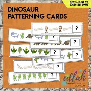 Dinosaur Patterning Cards - Full Color Version
