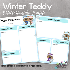Winter Teddy Newsletter for WORD or PAGES_Generation 2