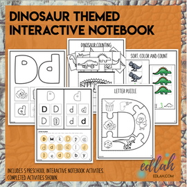 D is for Dinosaur Themed Interactive Notebook