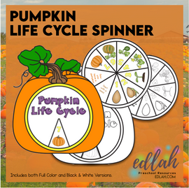 Pumpkin Life Cycle Spinner